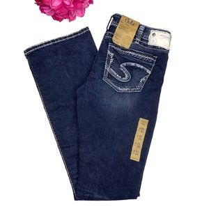 NWT SILVER JEANS Suki Low Boot Cut Long Jeans 31